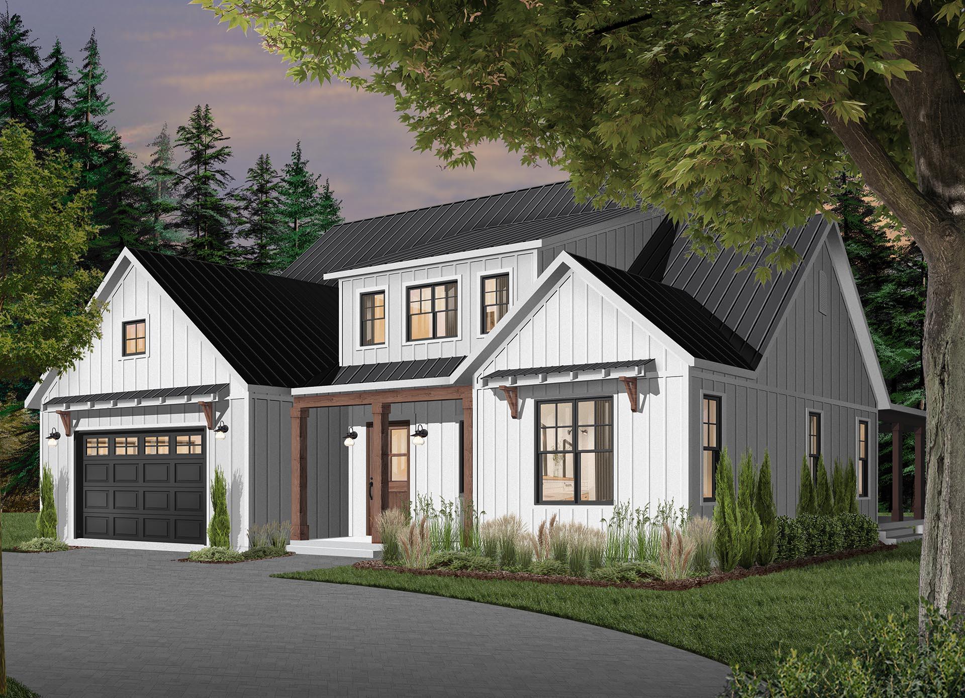 Plan Maison 2 Chambres 1 S Bain Garage 6102 14
