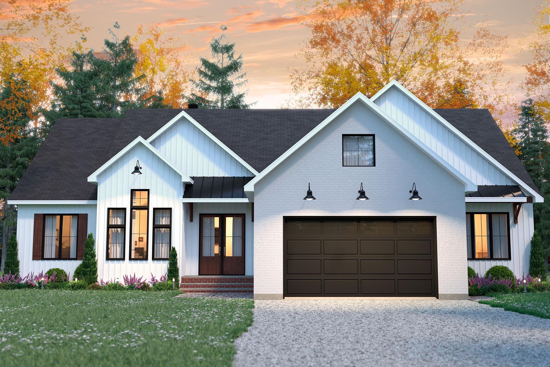 conception plan de maison vue de face