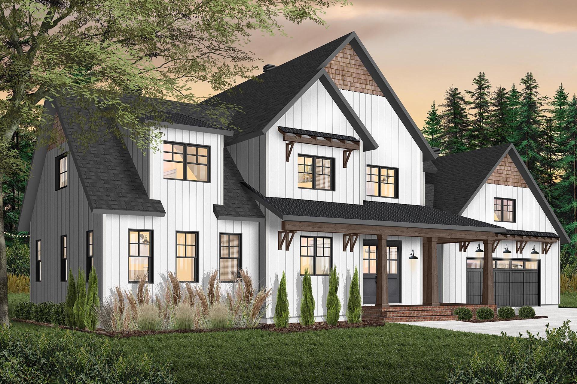 plan de maison farmhouse champêtre