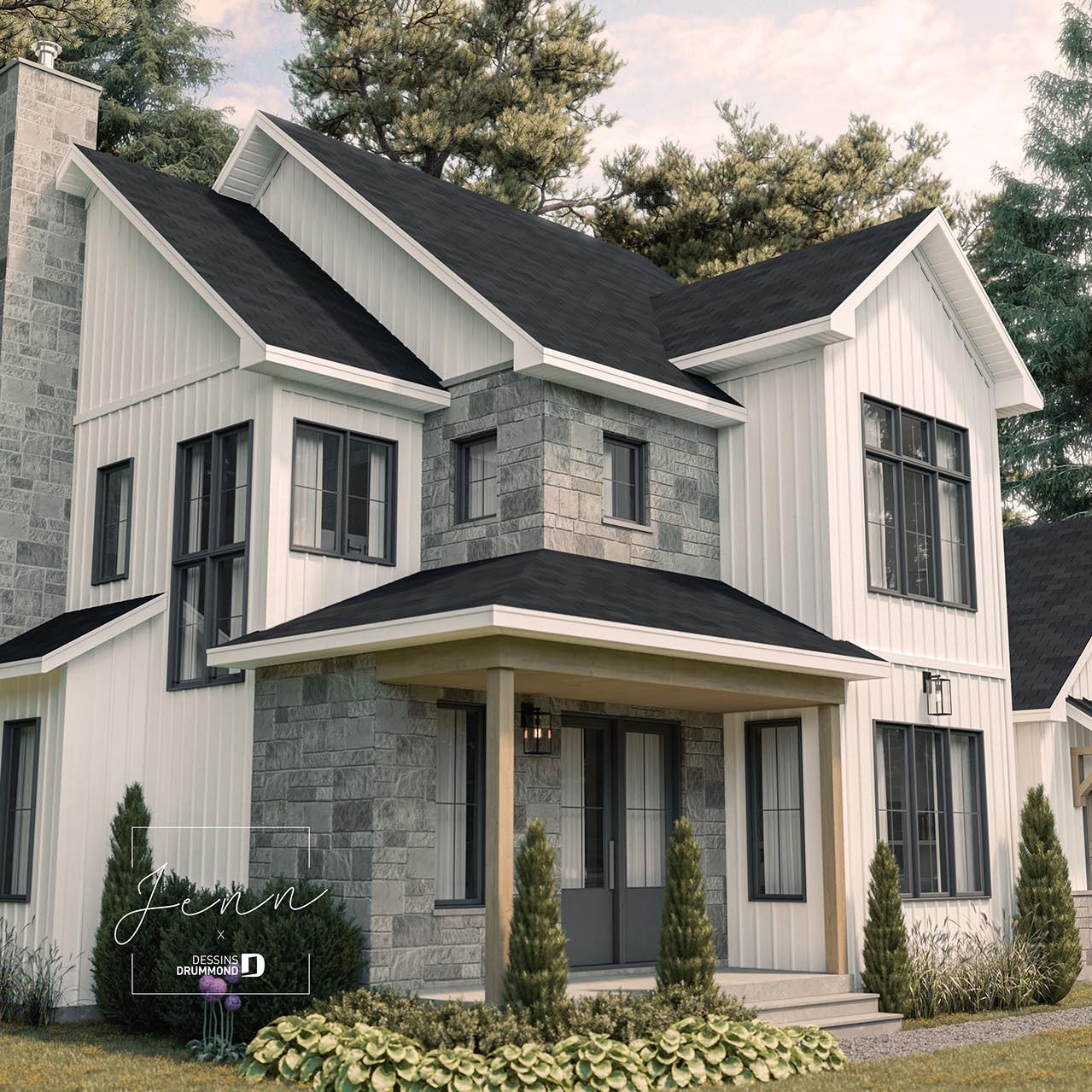 plan de maison farmhouse sur mesure